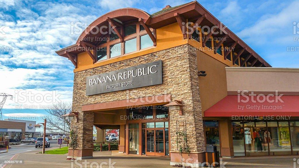 Banana Republic Store stock photo