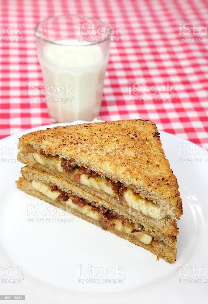 Banana Sandwich stock photo