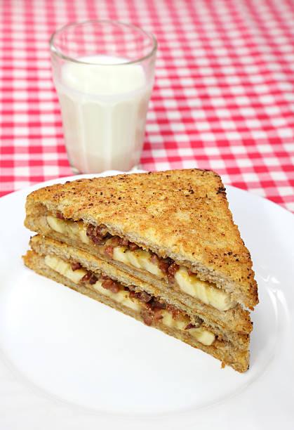 banana sandwich - peanutbutter bildbanksfoton och bilder