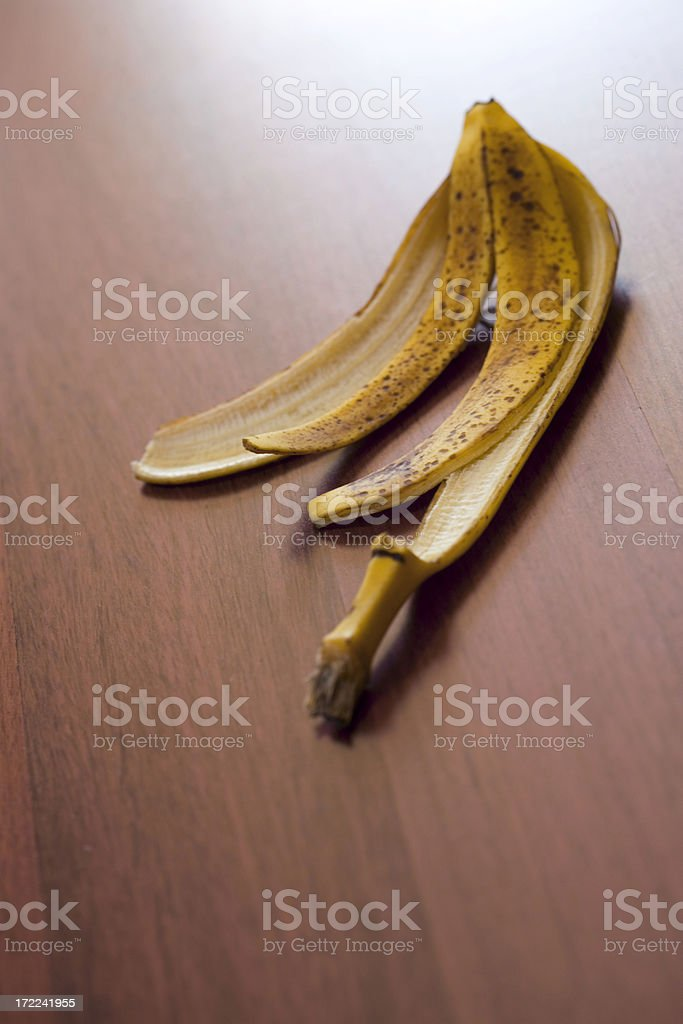 Banana Skin on Floor royalty-free stock photo