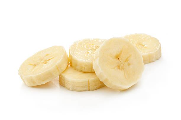 바나나 조각 스톡 사진