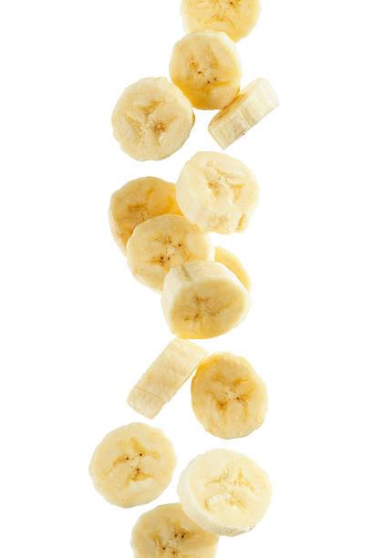 바나나 슬라이스 스톡 사진