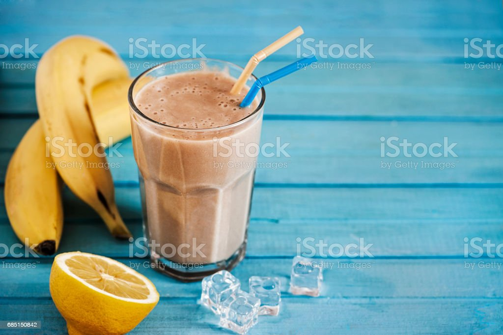 Banana Smoothie royalty-free stock photo
