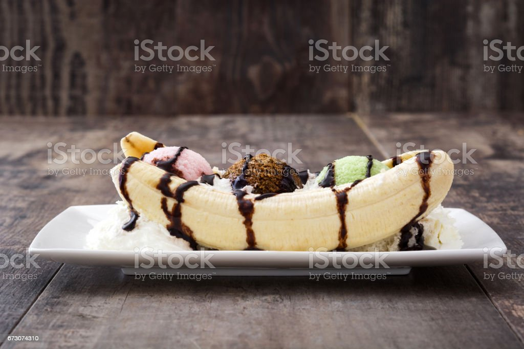 Banana split glace - Photo
