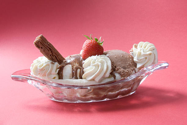 Banana split stock photo