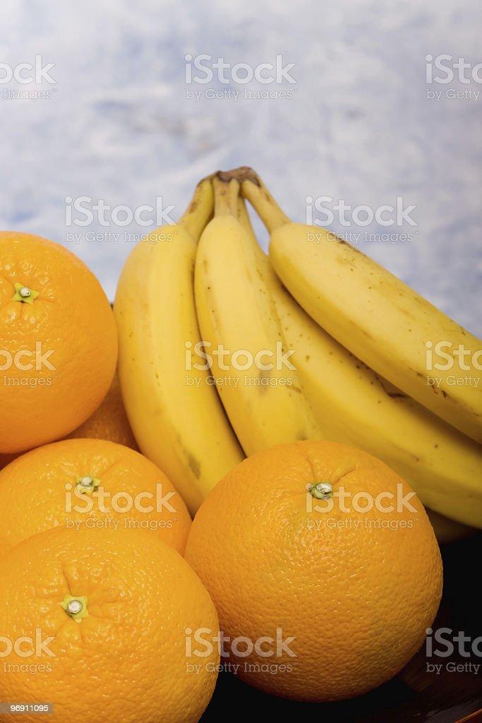 Bananas and oranges royalty-free stock photo