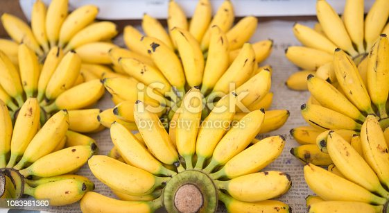 Ripe bananas at a market