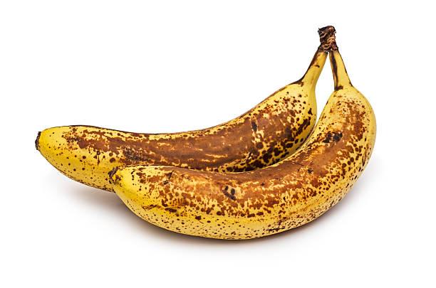 banane scaduto - maturo foto e immagini stock