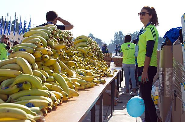 Bananas for the Marathon Athletes stock photo