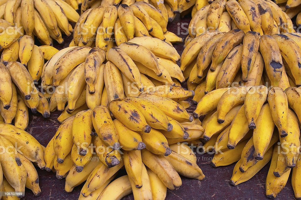 bananas in the market royalty-free stock photo
