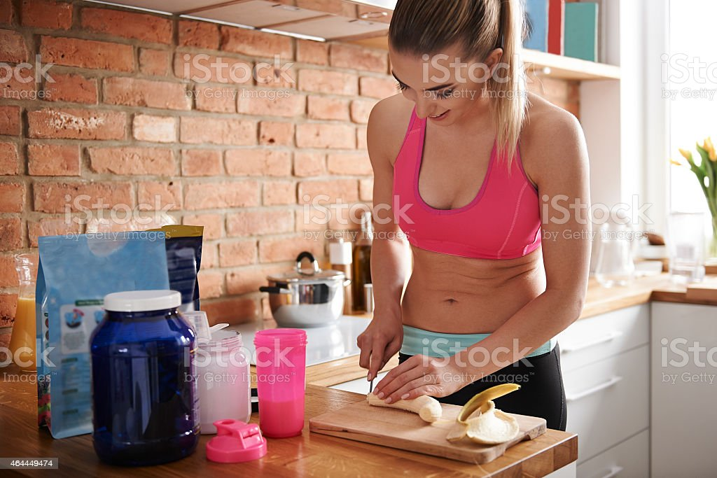 Bananas is good way for healthy carbs stock photo