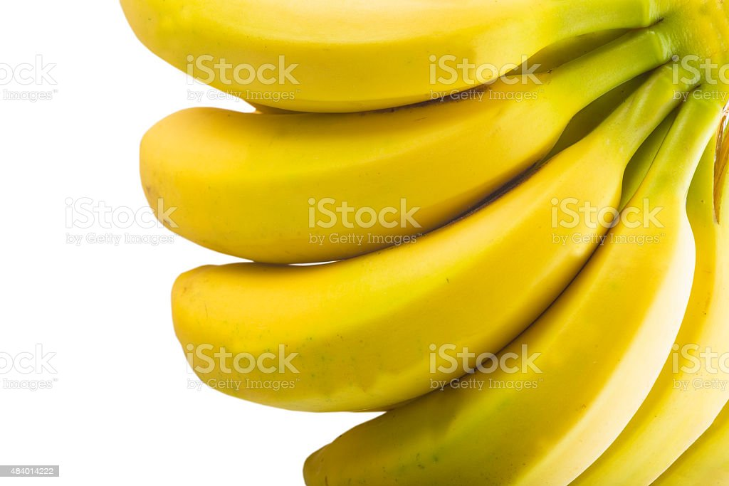Bananas isolated on a white background stock photo