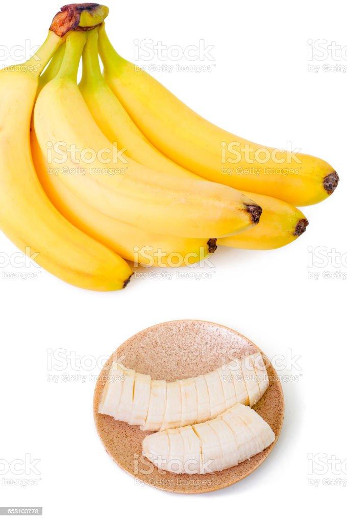 bananas isolated on white background royalty-free stock photo