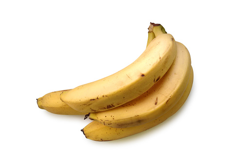 Bananas Isolated On White Background Stock Photo - Download Image Now