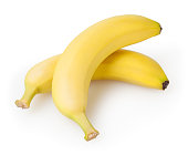 Bananas isolated on white background with clipping path
