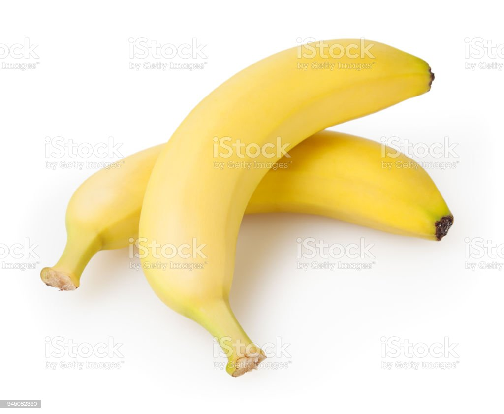 Bananas isolated on white background with clipping path - fotografia de stock