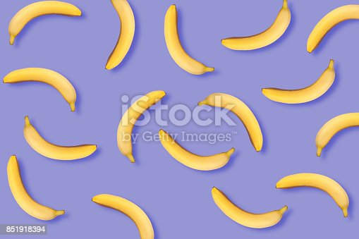 istock Bananas on a purple background 851918394