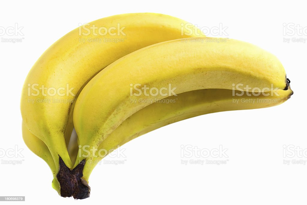 bananas on white background royalty-free stock photo