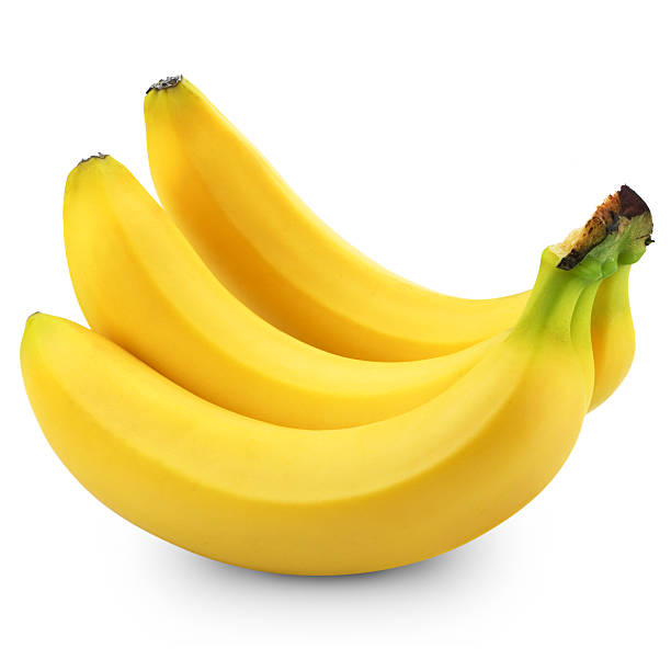 bananas Bunch of bananas isolated on white background banana stock pictures, royalty-free photos & images