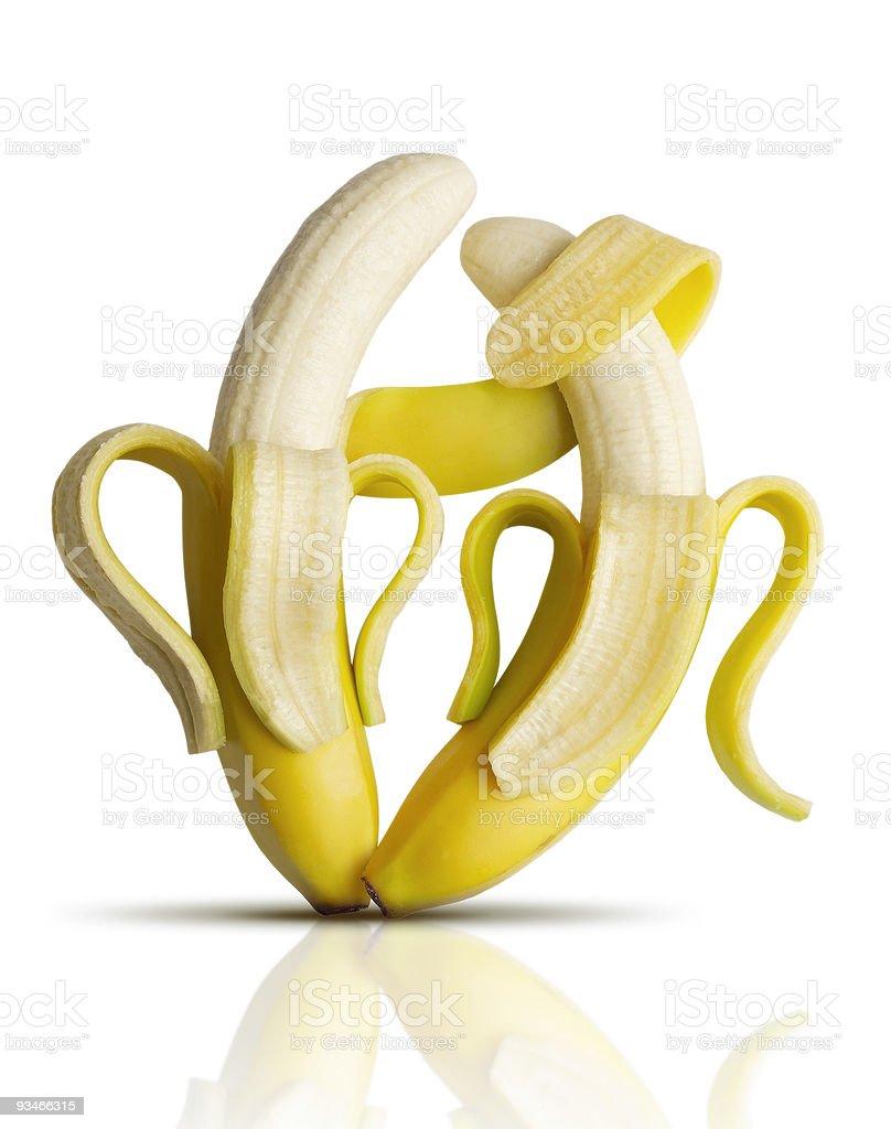 Bananas tango royalty-free stock photo