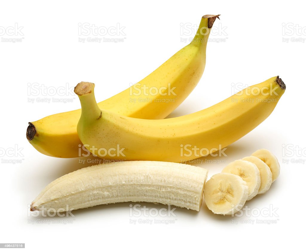 Bananas With Peeled Banana Slices Stock Photo More Pictures Of