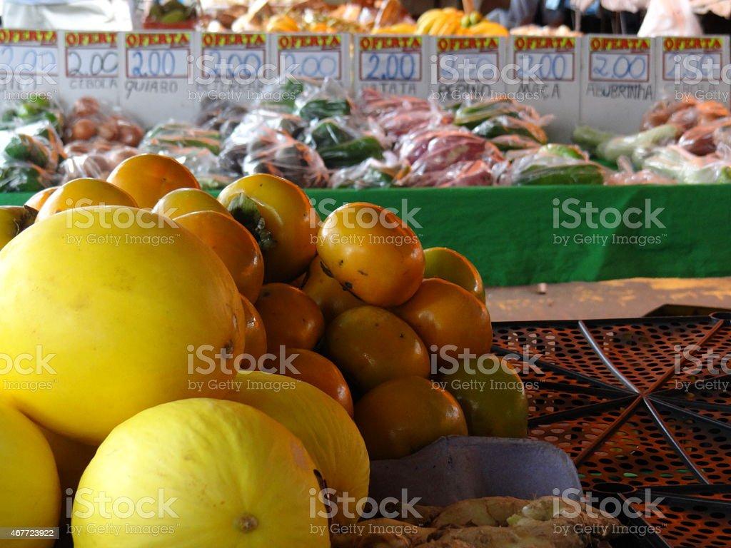 banca de frutas stock photo