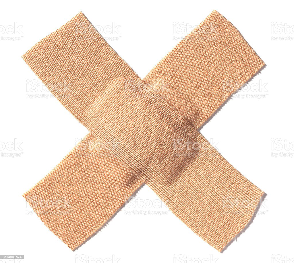band aid crossed - Stock Image stock photo