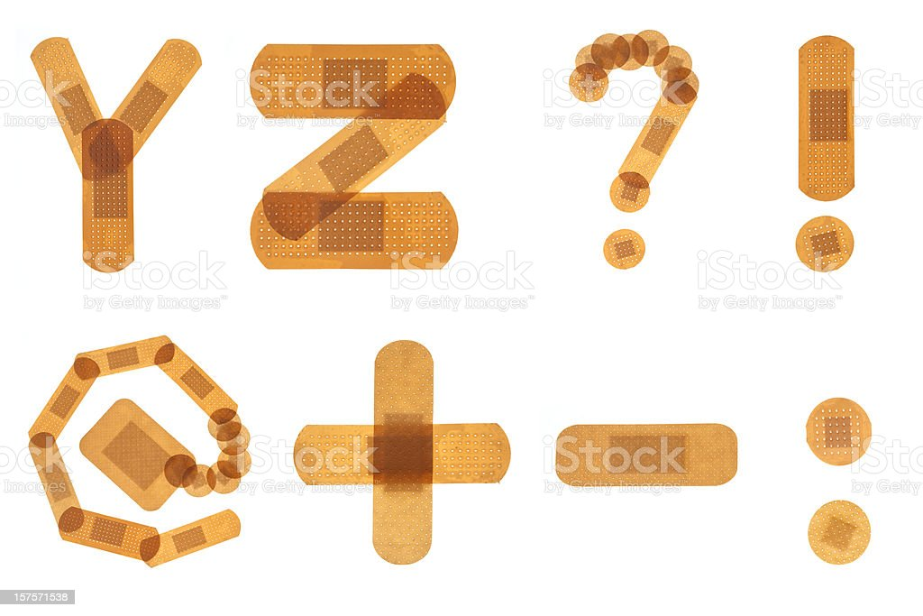 Band Hilfe Schriftart Alphabet - Stockfoto | iStock