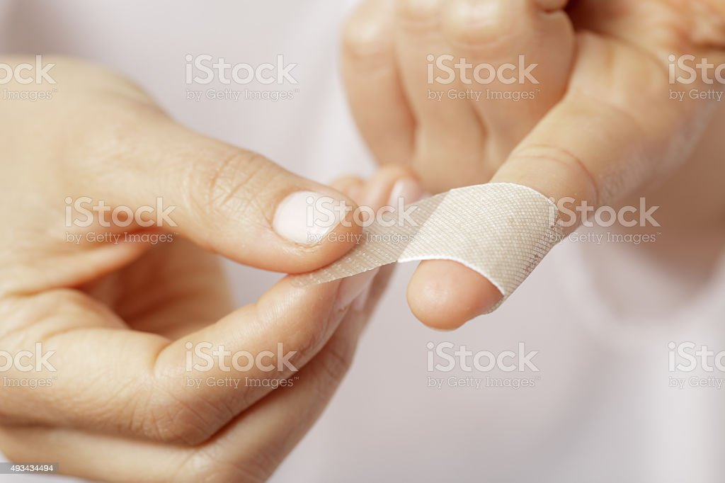 Band aid stock photo