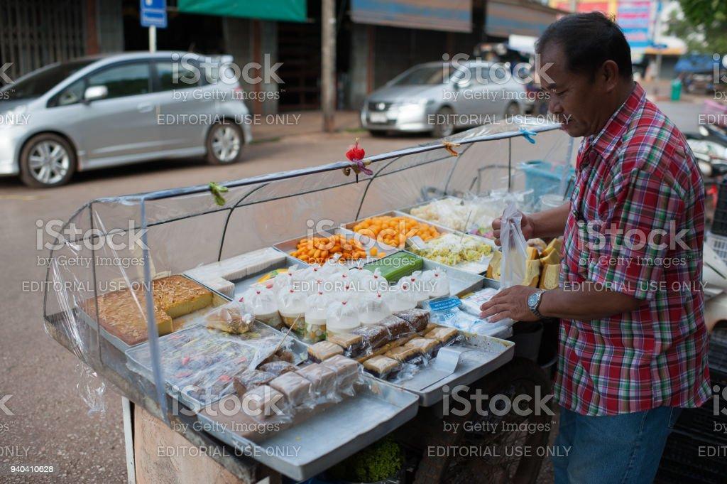 band dung thailand, market on province udon thani stock photo