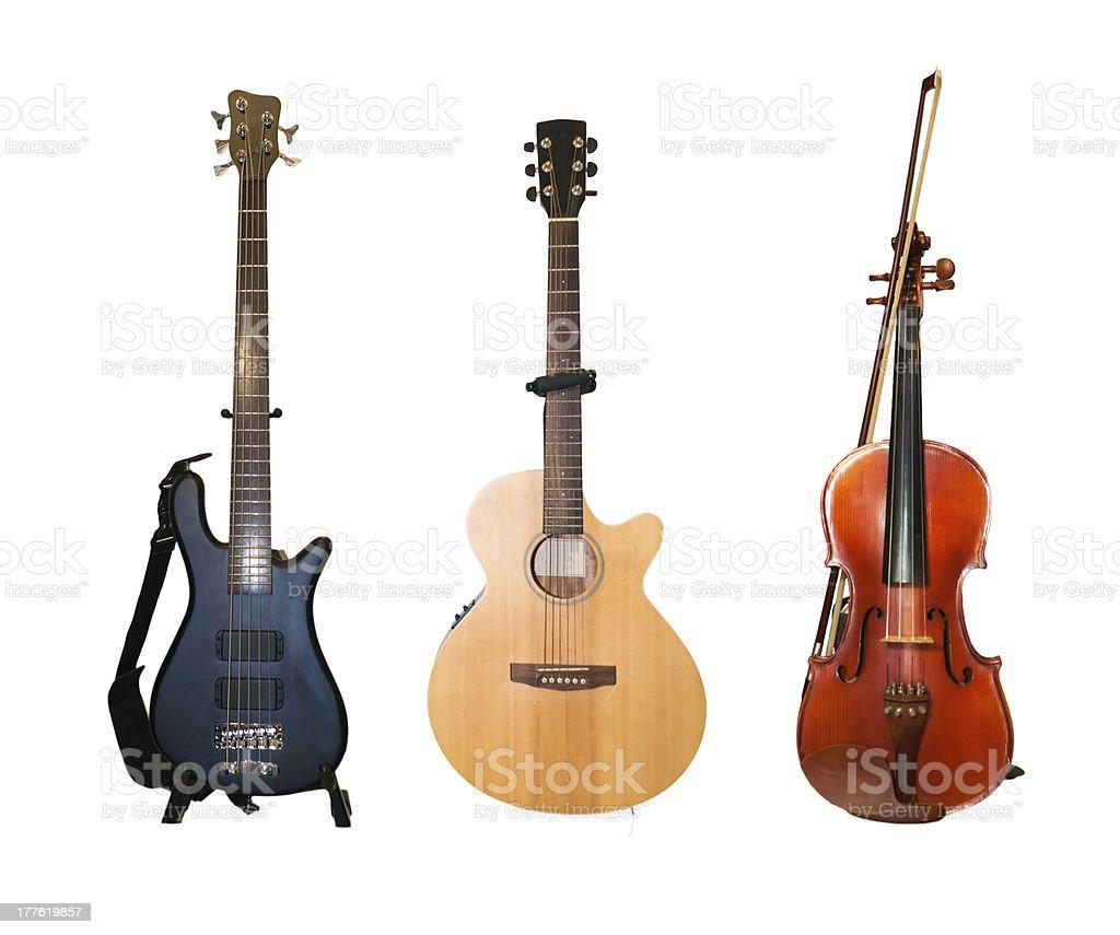 Band instruments stock photo