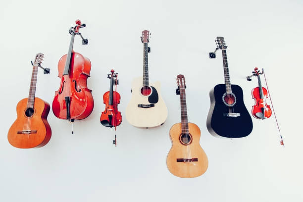 Band instruments Band instruments string instrument stock pictures, royalty-free photos & images