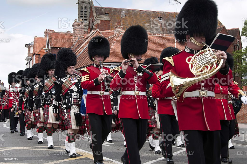 Band of the 1st Battalion Scots Guards stock photo