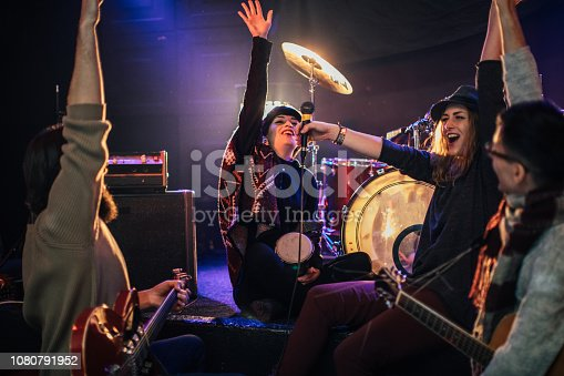 849362192istockphoto Band performing 1080791952
