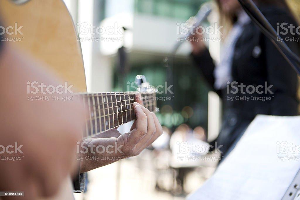 Band playing royalty-free stock photo