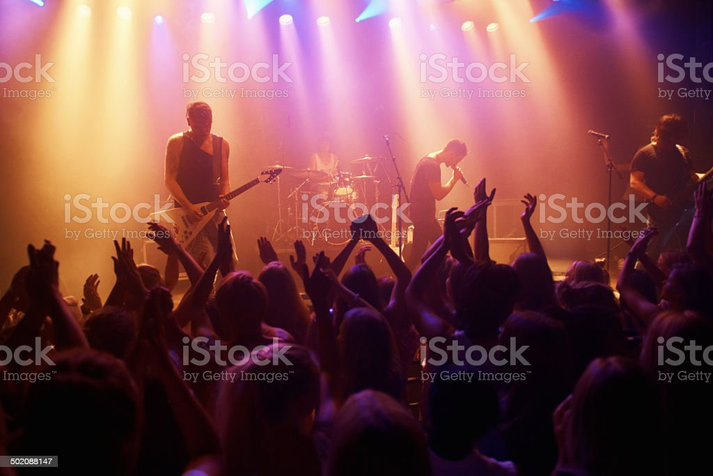 Nothing beats live music stock photo