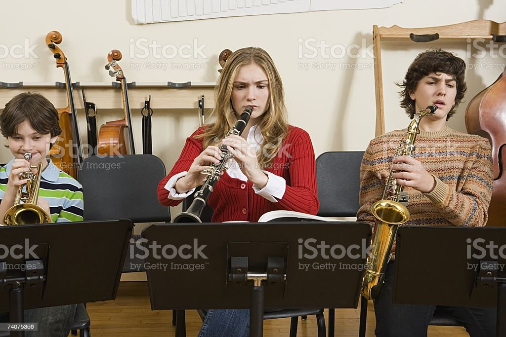 Band practice royalty-free stock photo