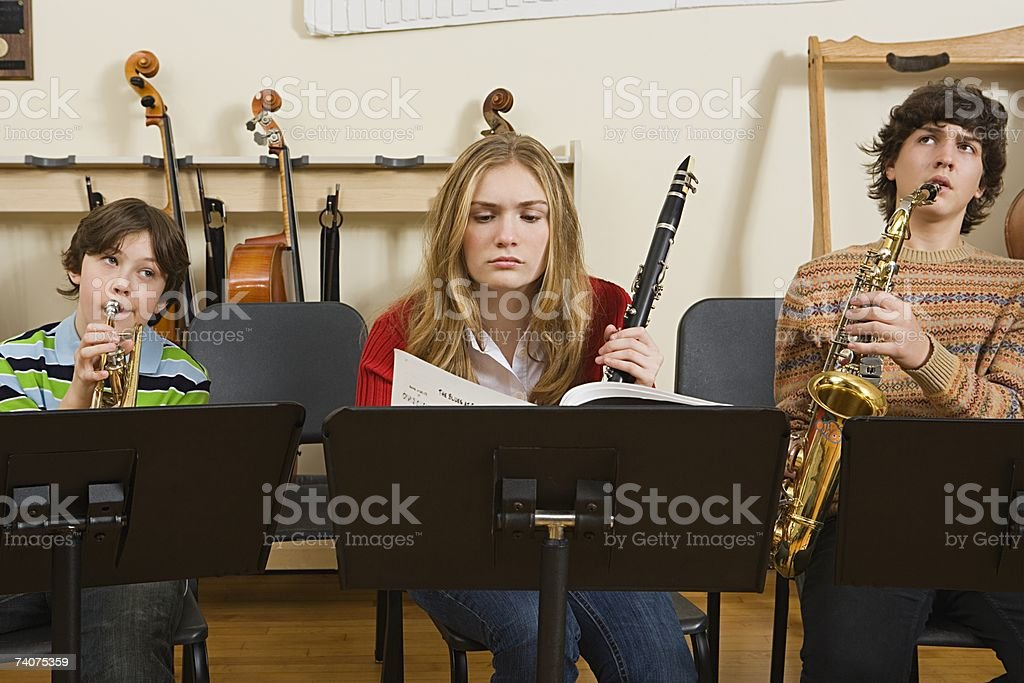 Band practice stock photo