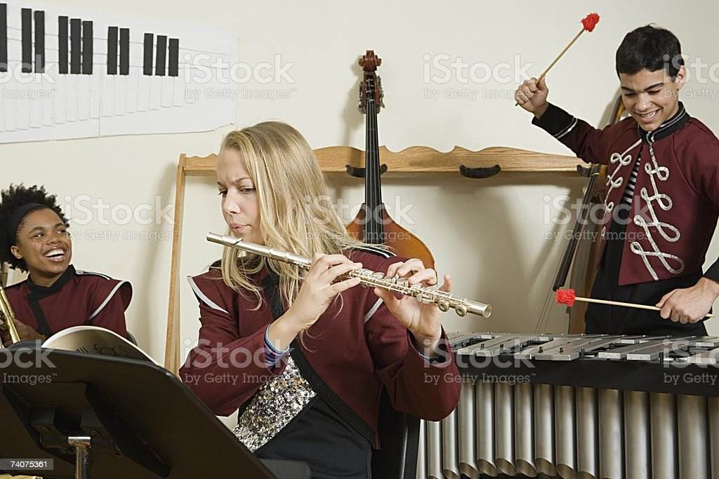 Band practice stock photo