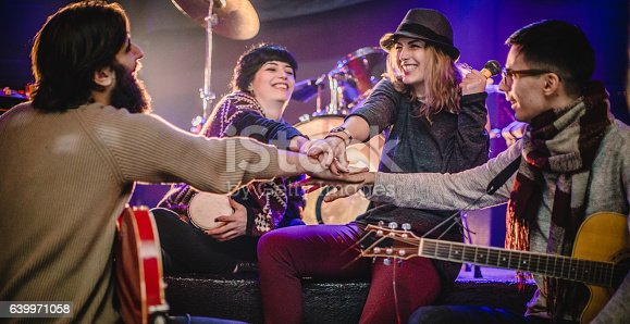 849362192istockphoto Band rehearsal before a gig 639971058
