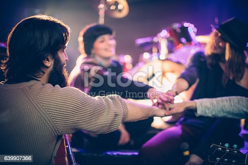 849362192istockphoto Band rehearsal before live show 639907366