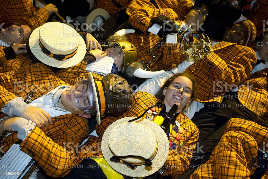 band resting stock photo