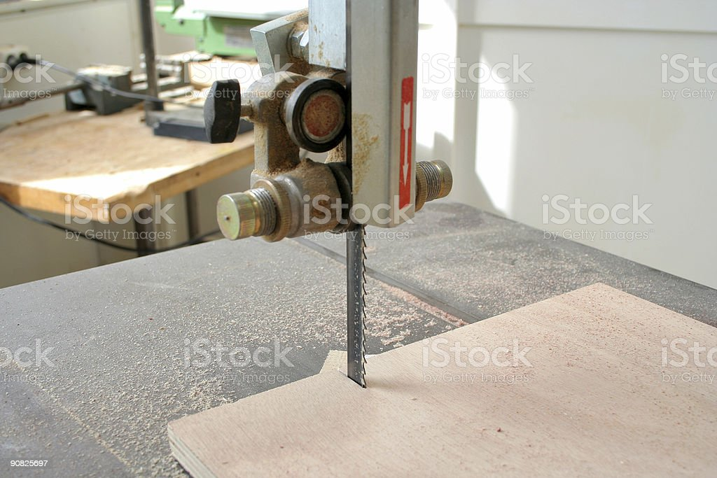 Band saw royalty-free stock photo