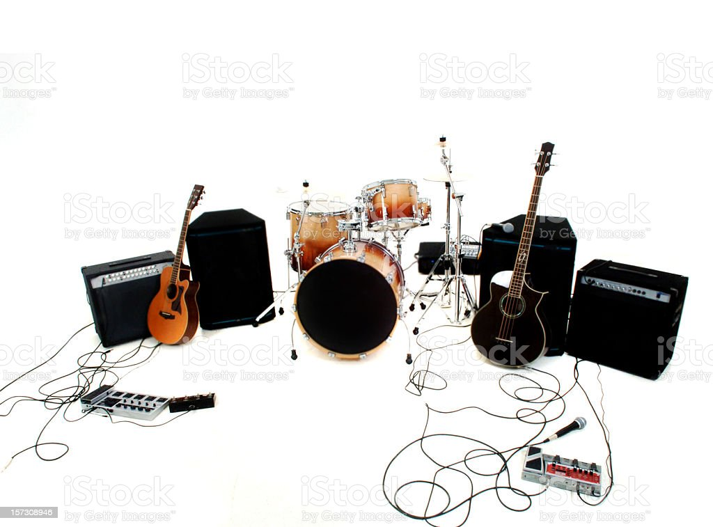 Band set up stock photo