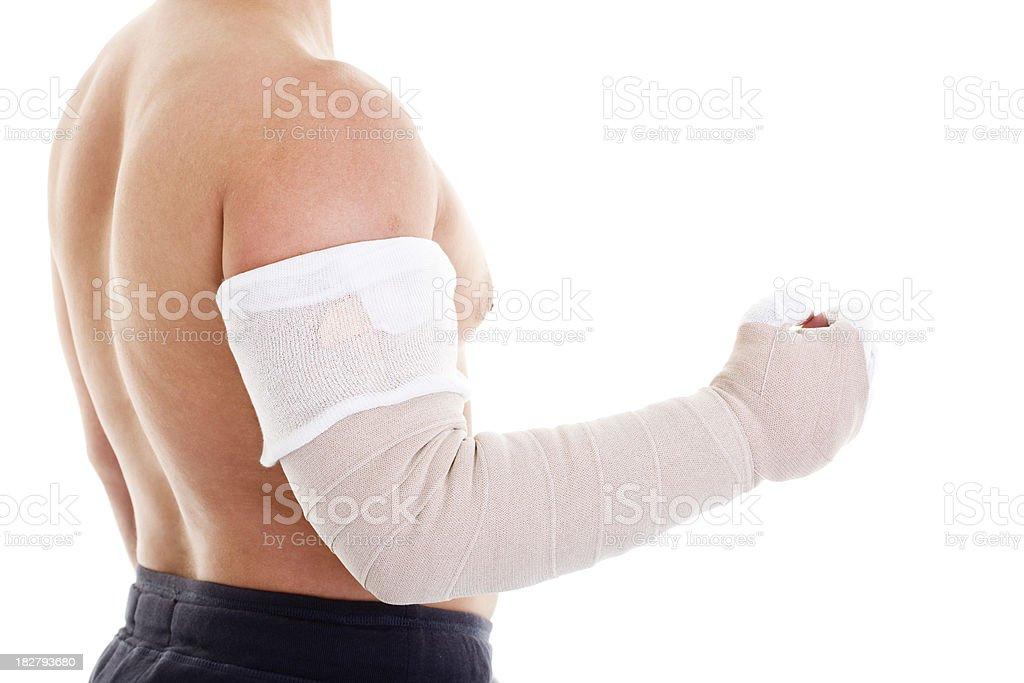 bandage for arm stock photo