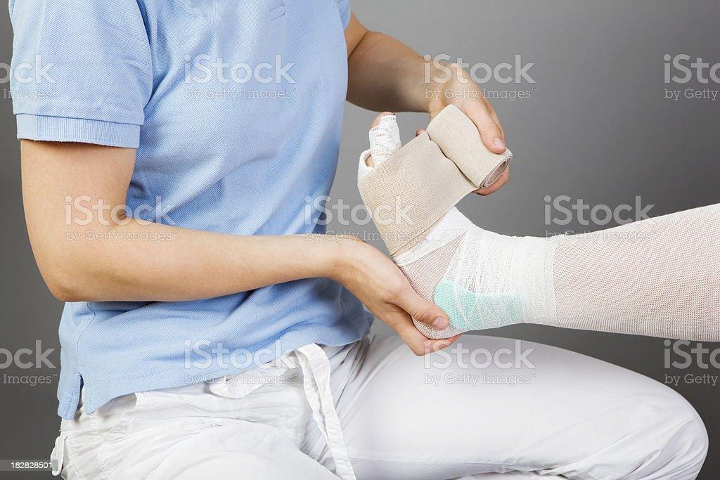 bandage for foot stock photo