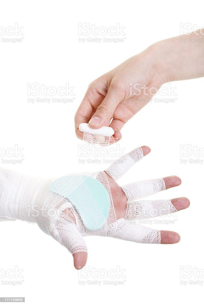 bandage for hand stock photo