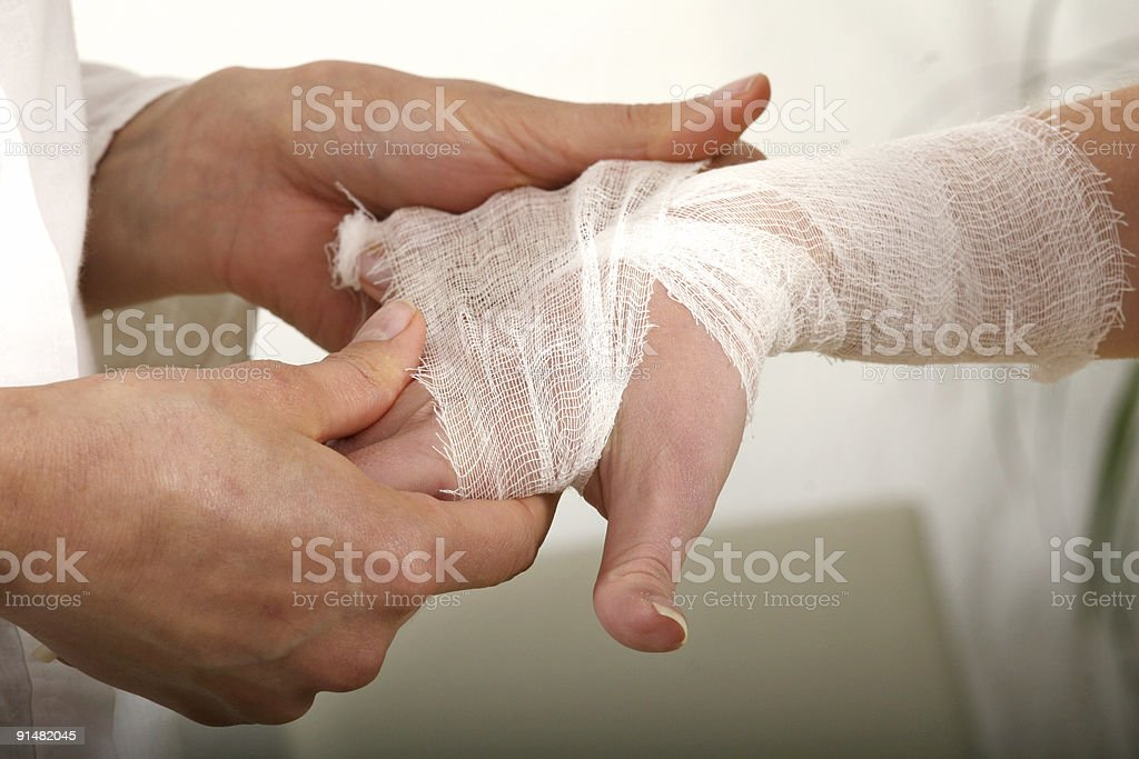 Bandage for hand royalty-free stock photo
