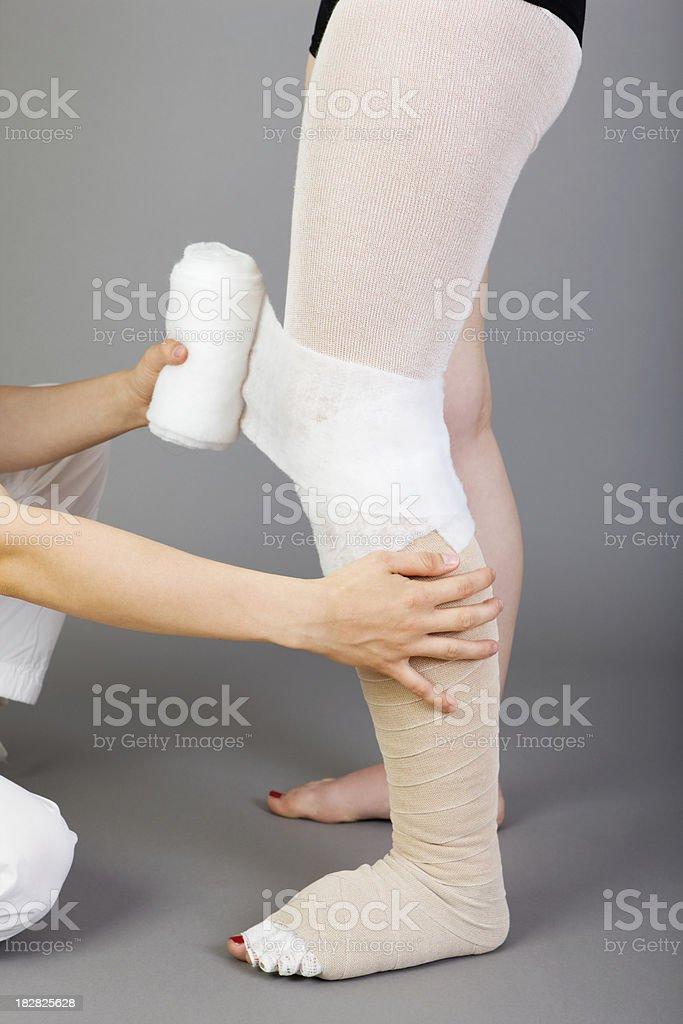 bandage for leg stock photo