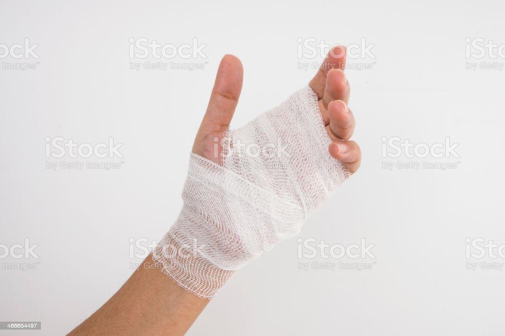 Bandage on  a hand royalty-free stock photo